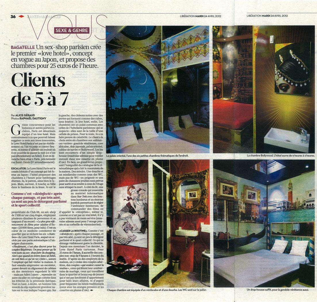 Libération parle du Love Hotel