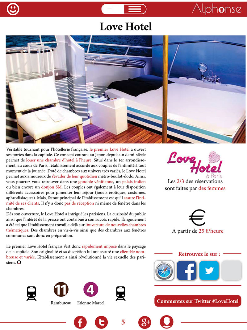 article alphonse mag sur le love hotel