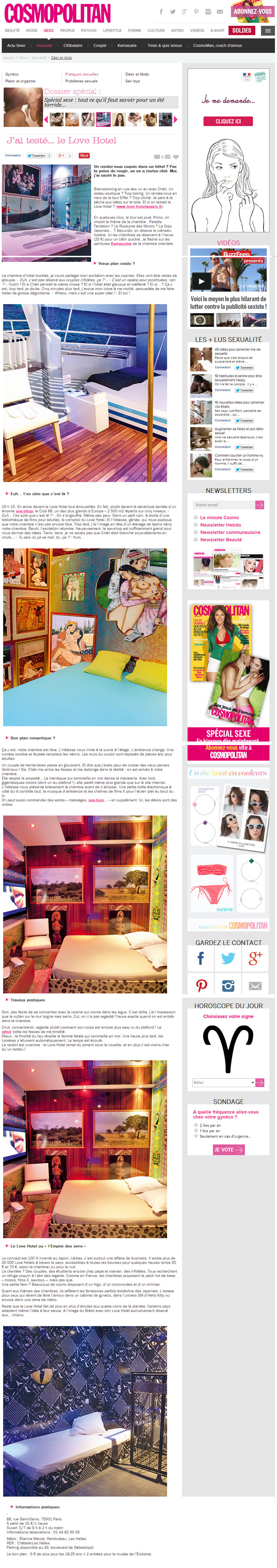article lovehotel a paris sur cosmopolitan.fr
