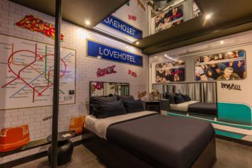 La chmabre Metro du Lovehotel à Paris